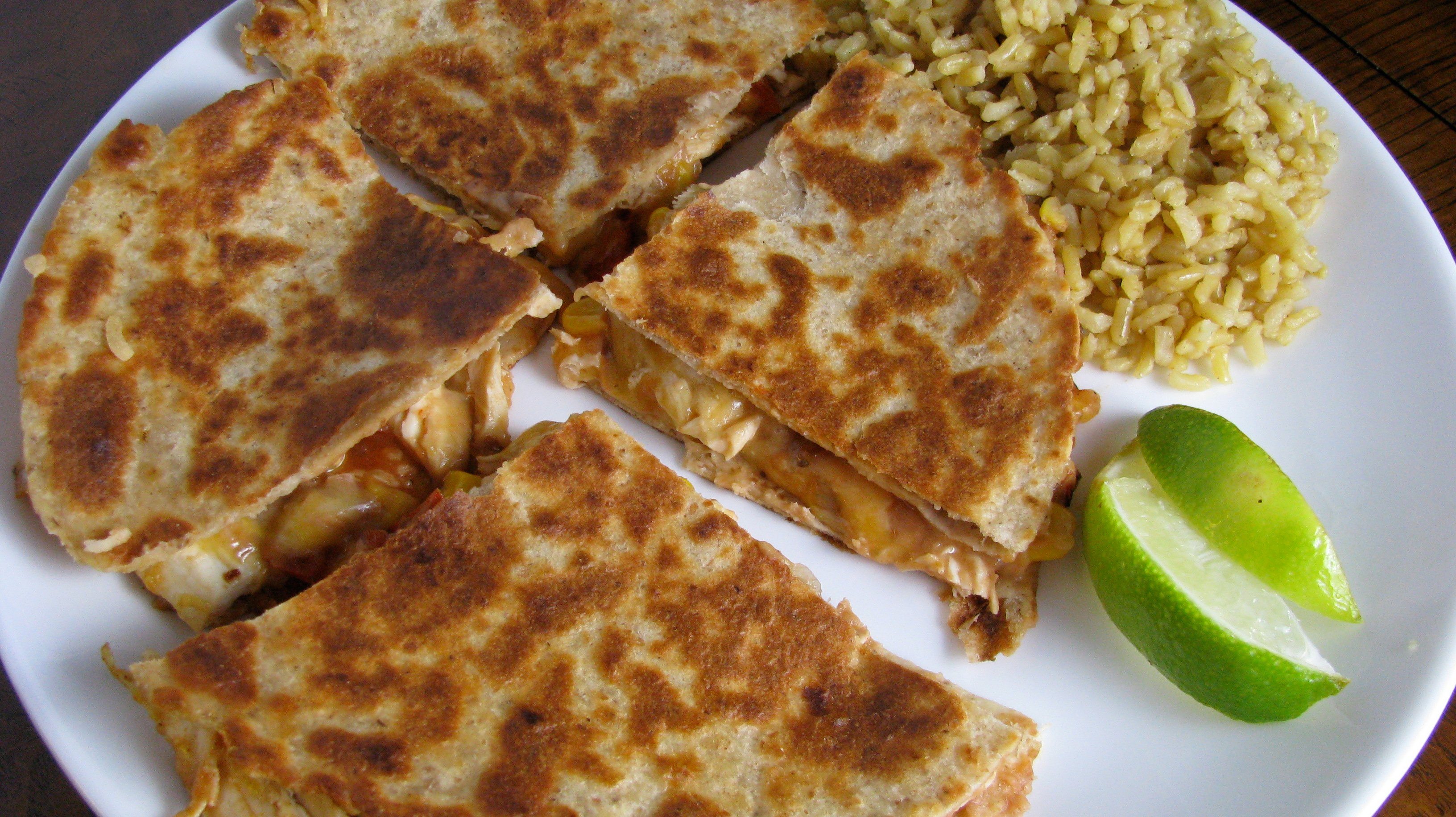 ... about these chicken quesadillas? They are protein-packed and healthy