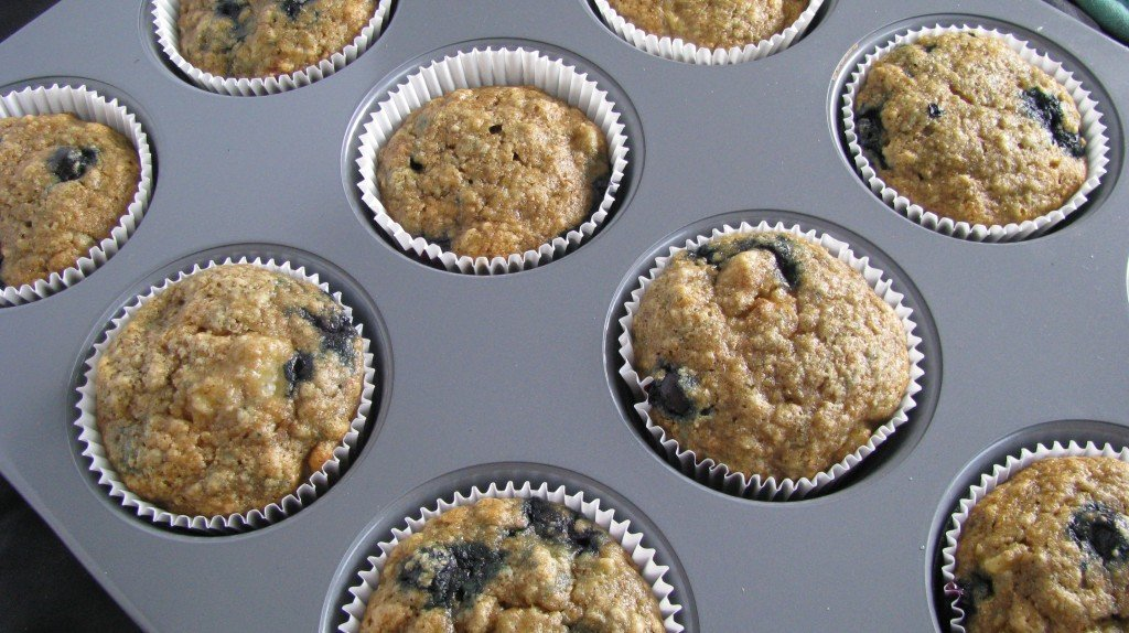Whole Wheat Blueberry Banana Bread Muffins | How Sweet It Is