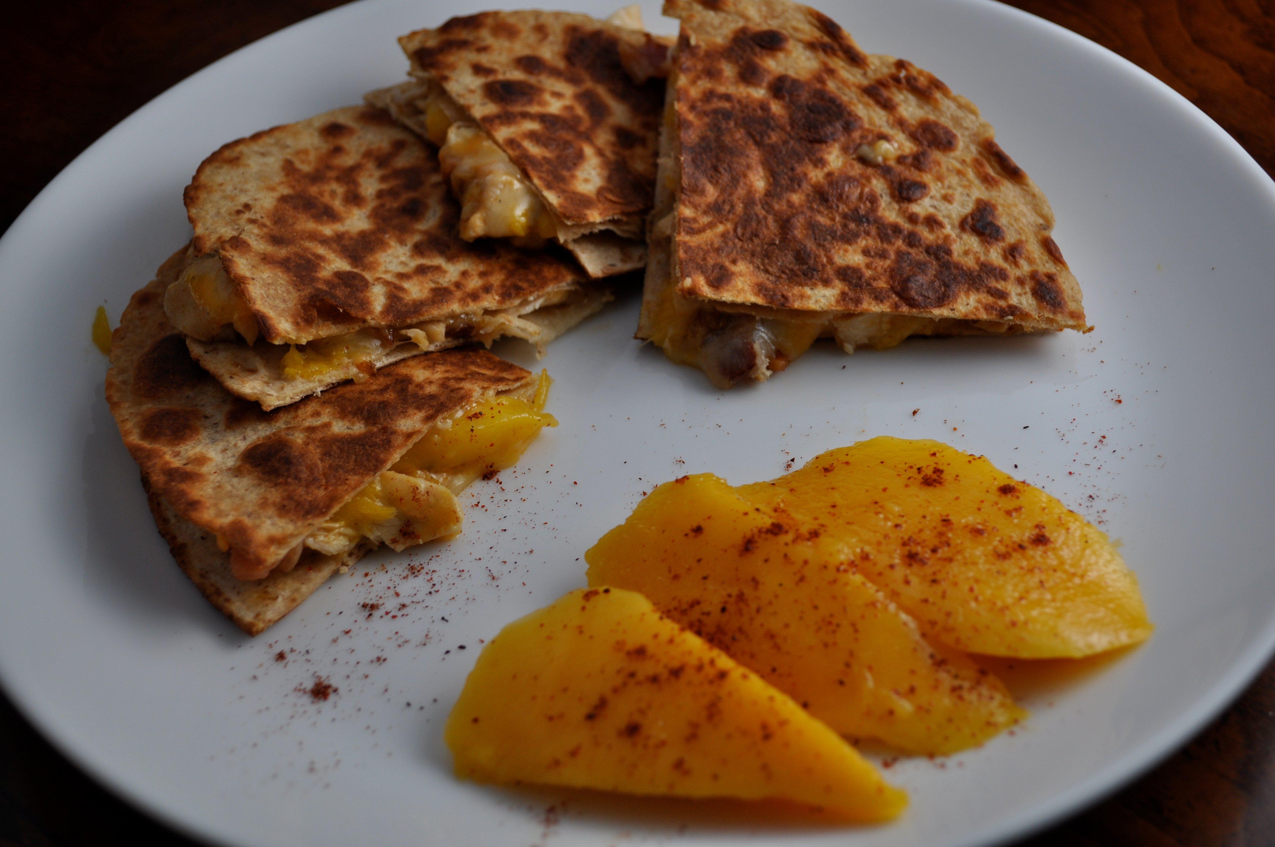 Chili Mango Chicken Quesadilla. | How Sweet It Is