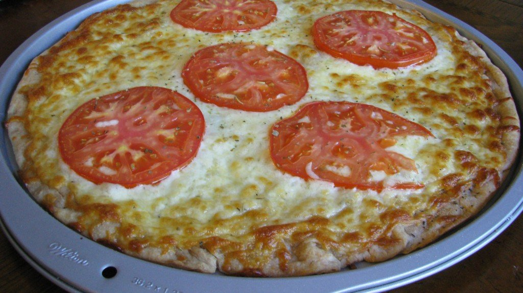 Easy Homemade Pizza with Whole Wheat Crust.