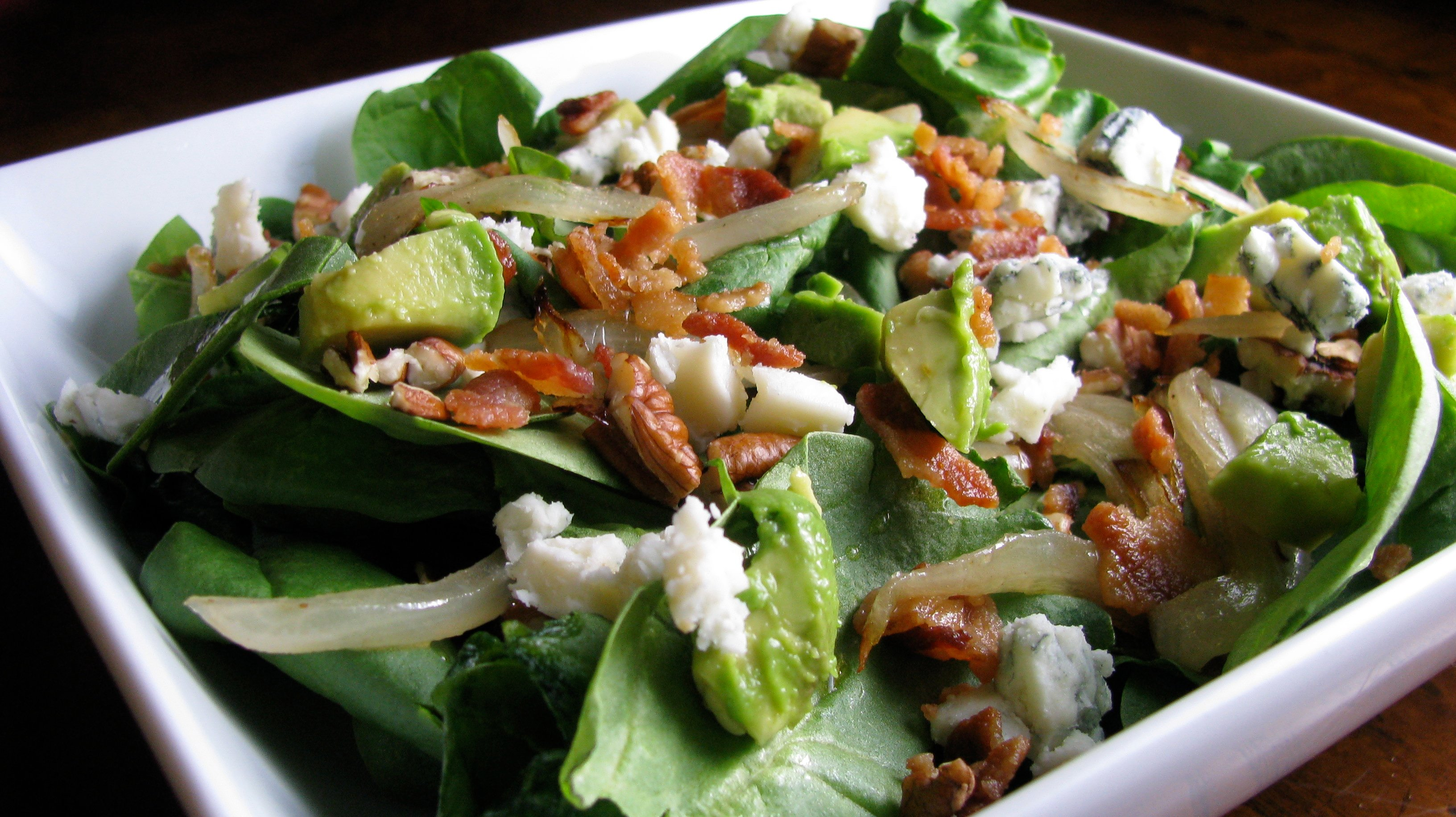 Loaded Spinach Salad How Sweet It Is