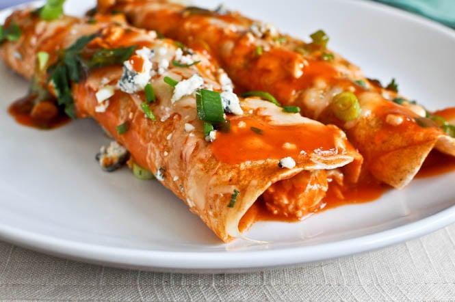 Buffalo Chicken Enchiladas I howsweeteats.com