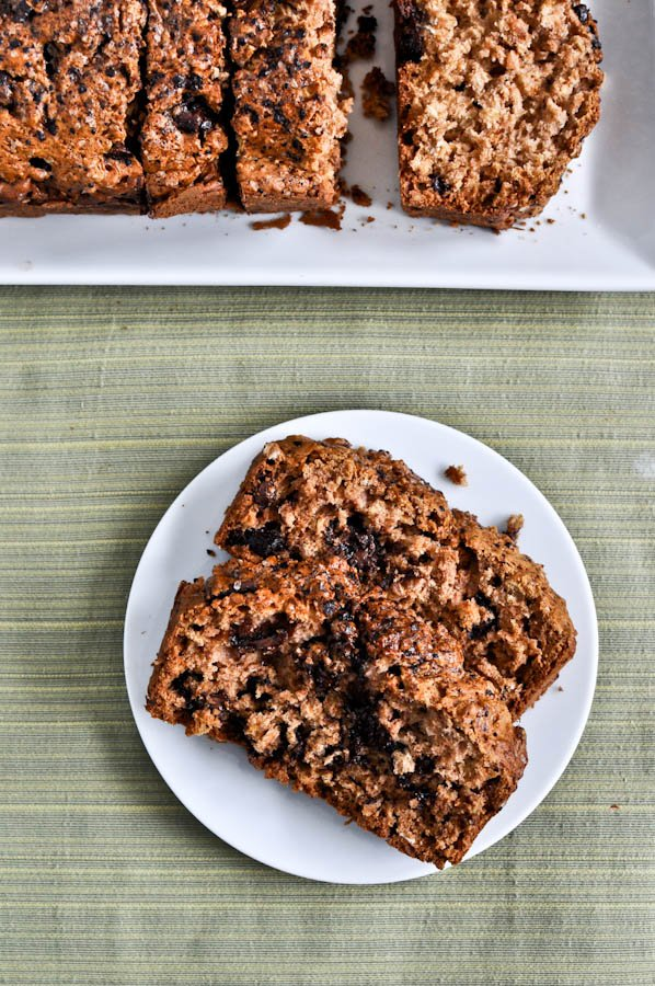 Chocolate Chunk Oatmeal Cookie Bread I howsweeteats.com