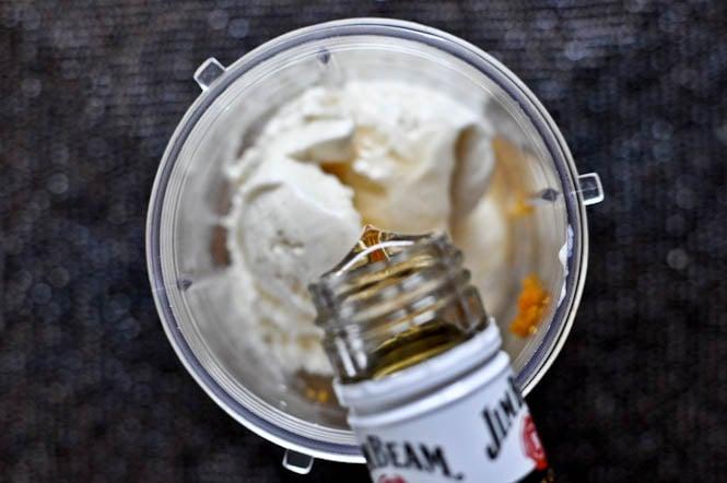 Bourbon Pumpkin Pie Milkshakes I howsweeteats.com
