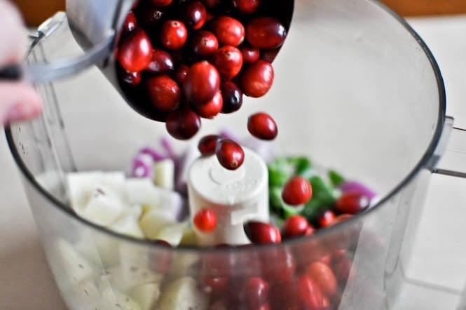 Cranberry Pear Salsa I howsweeteats.com