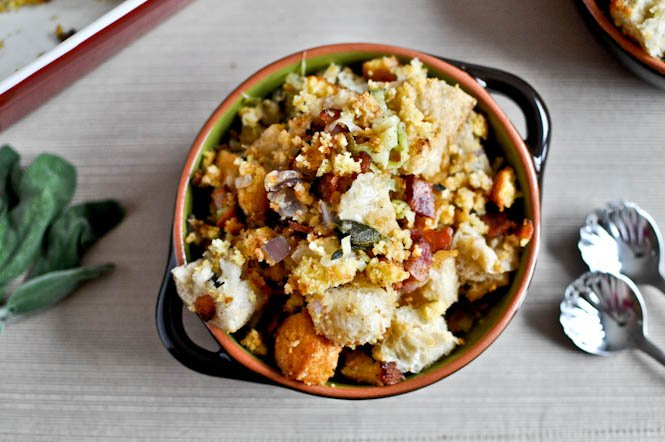 Sourdough Stuffing With Mushrooms, Apples, & Sage Recipes — Dishmaps