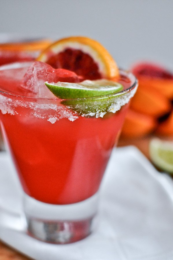 Blood Orange Margaritas I howsweeteats.com