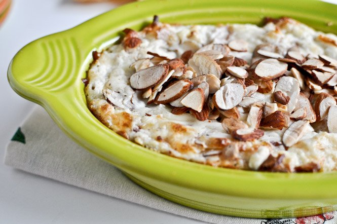 Toasted Almond Parmesan Dip How Sweet It Is