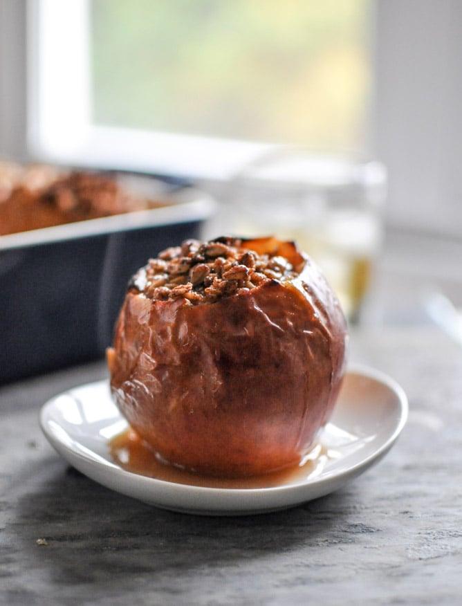 Bourbon Baked Apples I howsweeteats.com
