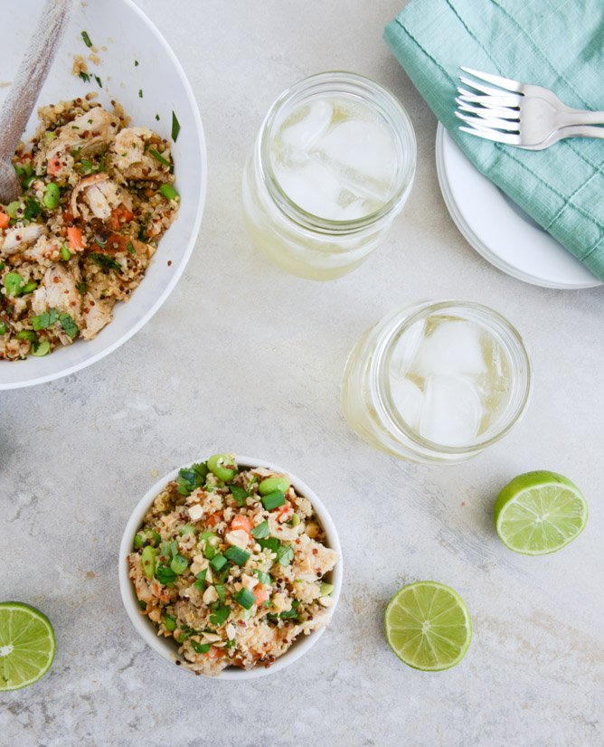 thai chicken quinoa bowl