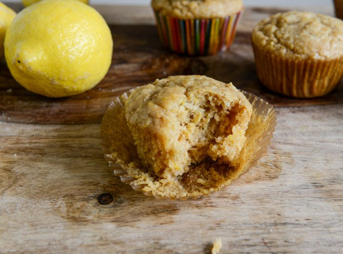 Brown Sugar Lemon Mascarpone Muffins I howsweeteats.com