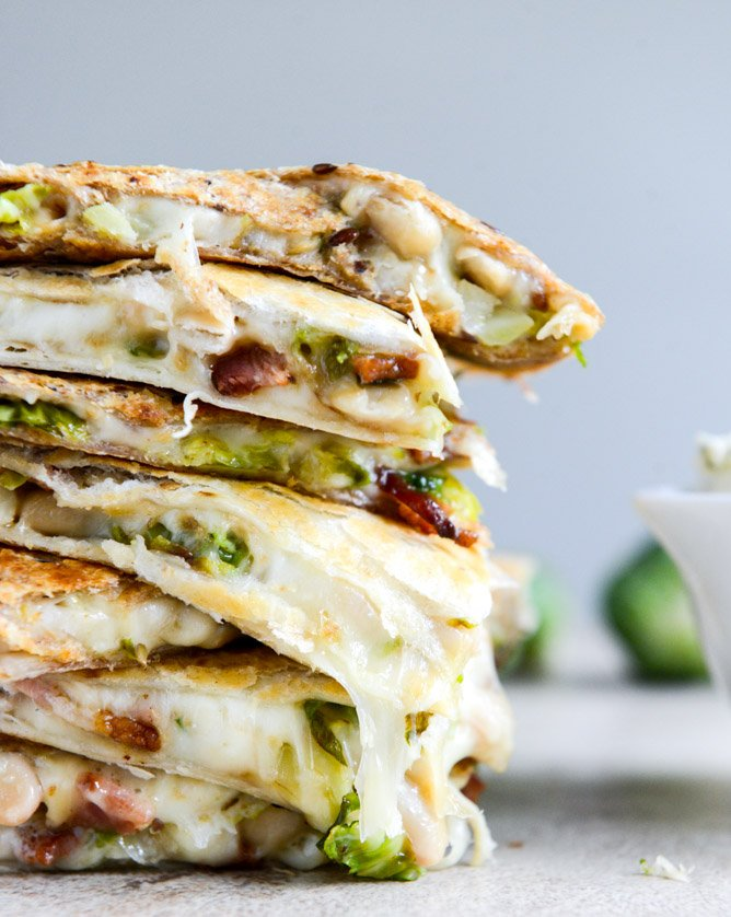 Brussels Bacon Bean Quesadillas I howsweeteats.com