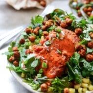 BBQ salmon salad I howsweeteats.com-5