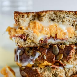 sweet potato casserole grilled cheese I howsweeteats.com-3