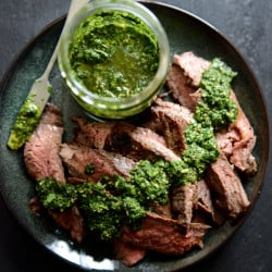 flank steak with chimichurri I howsweeteats.com-5