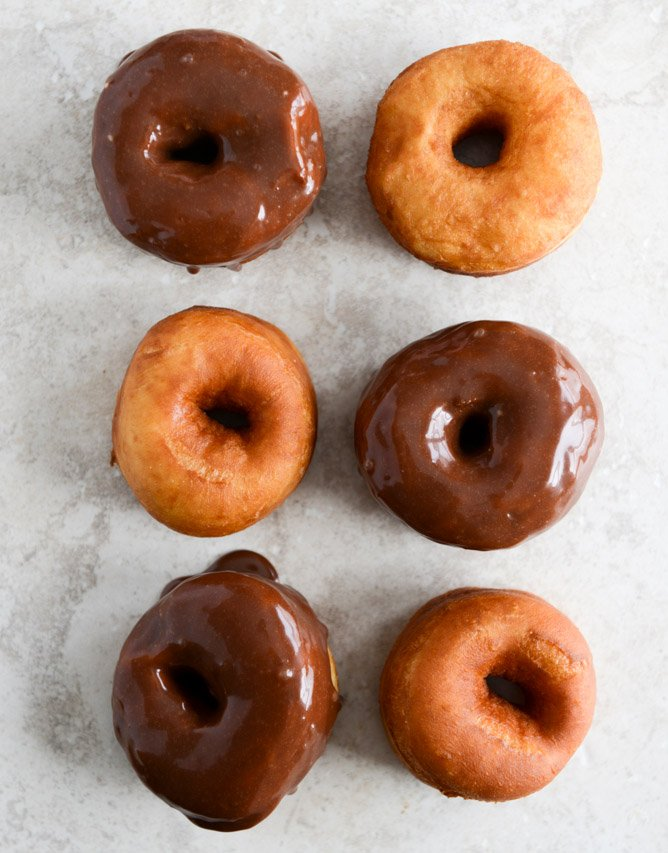 Crunchy Kettle Chip Chocolate Frosted Raised Donuts I howsweeteats.com