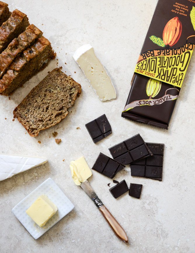 Banana Bread, Brie and Chocolate Grilled Cheese I howsweeteats.com
