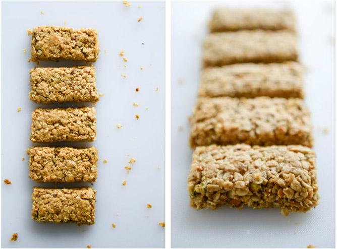 chewy pistachio maracoon granola bars I howsweeteats.com