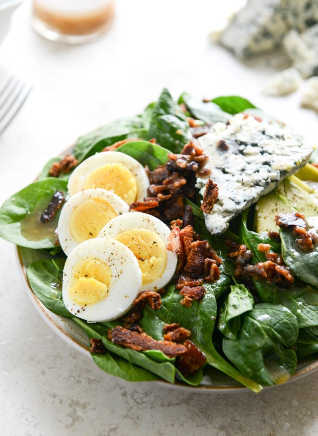 Killer Spinach Salads With Hot Bacon Dressing | How Sweet It Is