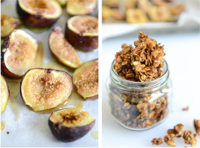 salted bourbon vanilla granola and caramelized fig parfaits I howsweeteats.com