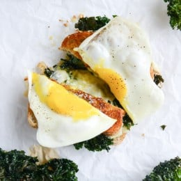 crispy kale grilled cheese I howsweeteats.com-7
