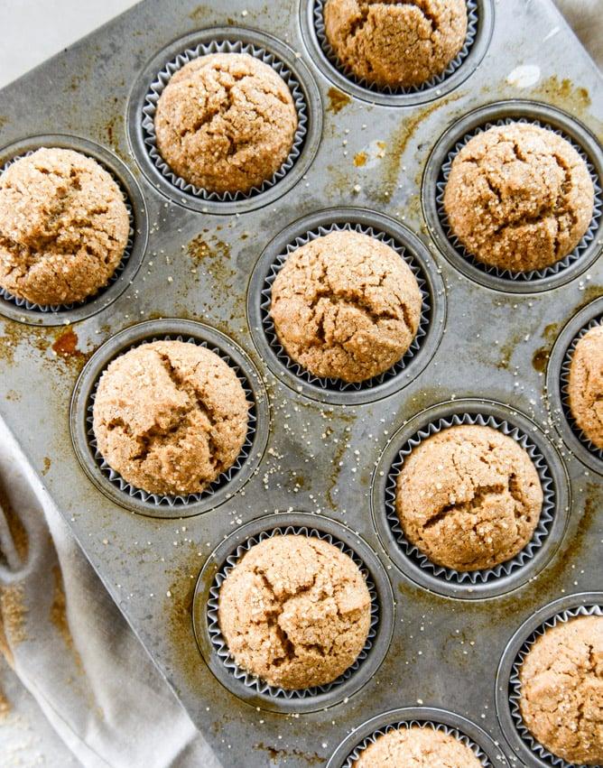 gingerbread muffins I howsweeteats.com