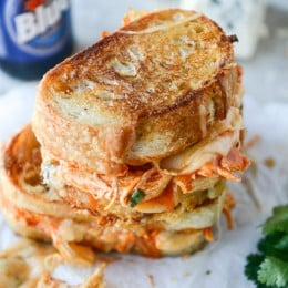 buffalo chicken grilled cheese I howsweeteats.com-5