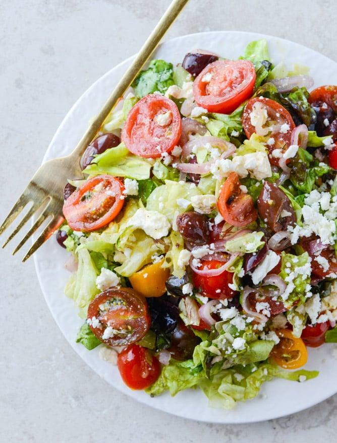 my favorite greek salad I howsweeteats.com