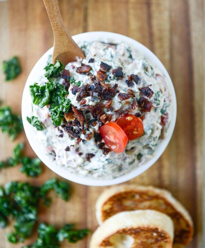 grilled kale BLT dip I howsweeteats.com