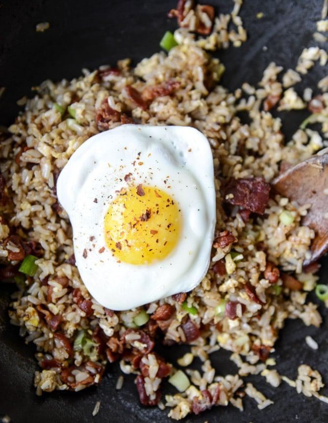 breakfast fried rice I howsweeteats.com