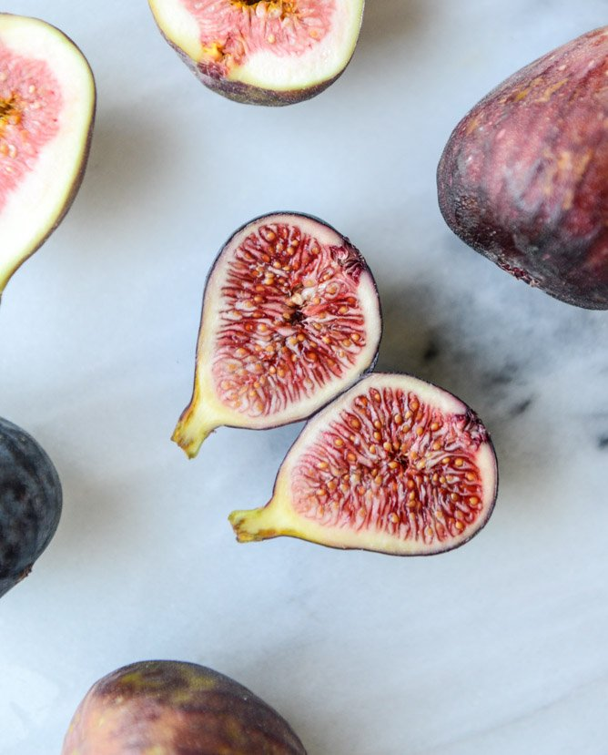 roasted goat cheese stuffed figs + an easy summer cheese plate I howsweeteats.com