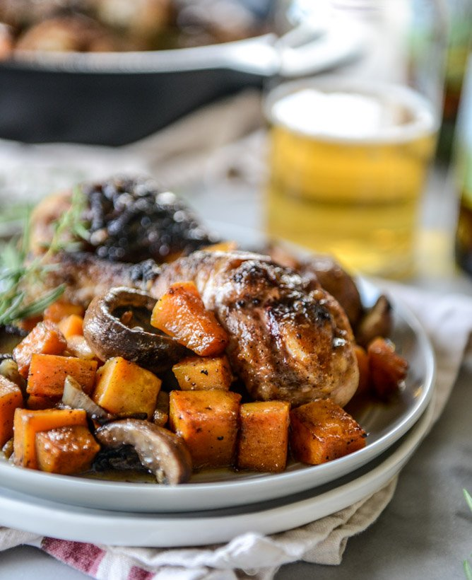 cider braised chicken with butternut I howsweeteats.com
