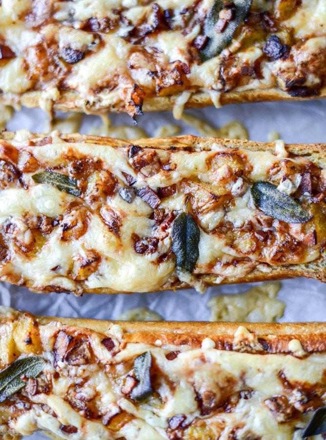 pumpkin parmesan french breads I howsweeteats.com