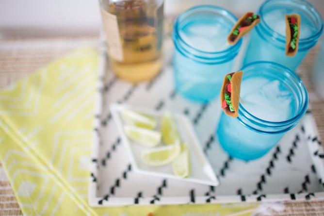 DIY taco drink stirrers for Cinco de Mayo I howsweeteats.com