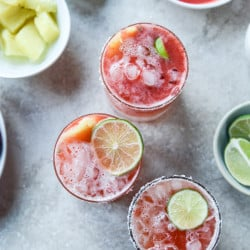 strawberry pineapple margarita I howsweeteats.com-10