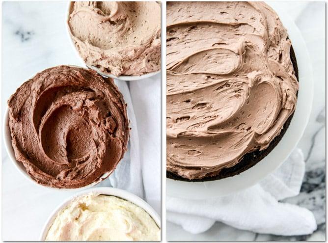 chocolate vanilla bean cake I howsweeteats.com