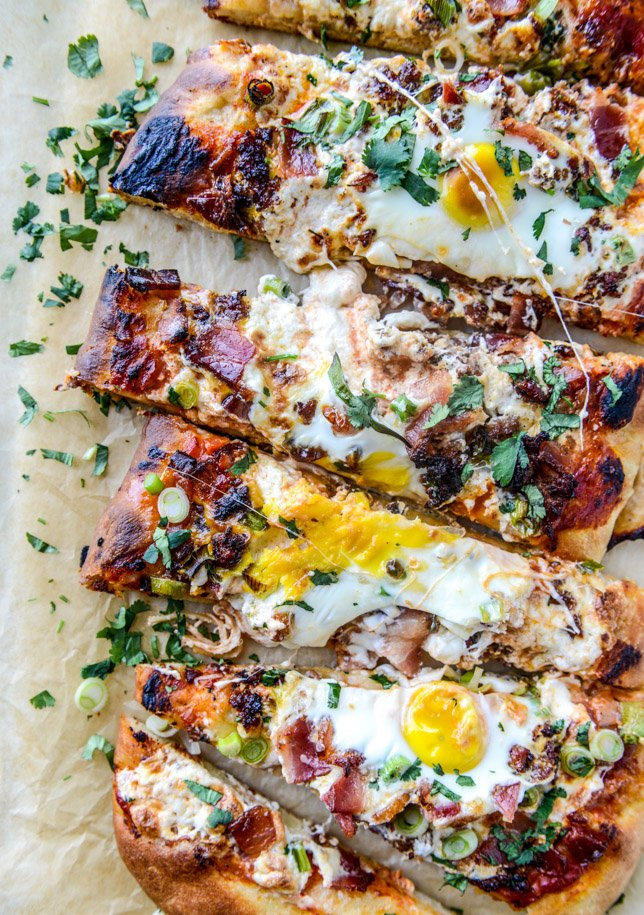 burrata breakfast pizza I howsweeteats.com