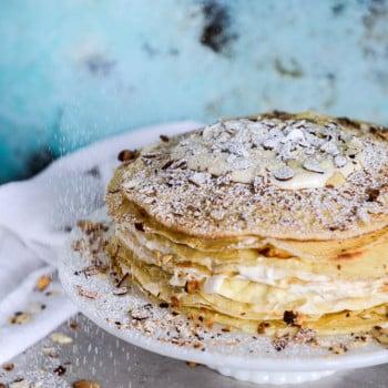 almond crepe cake I howsweeteats.com-6