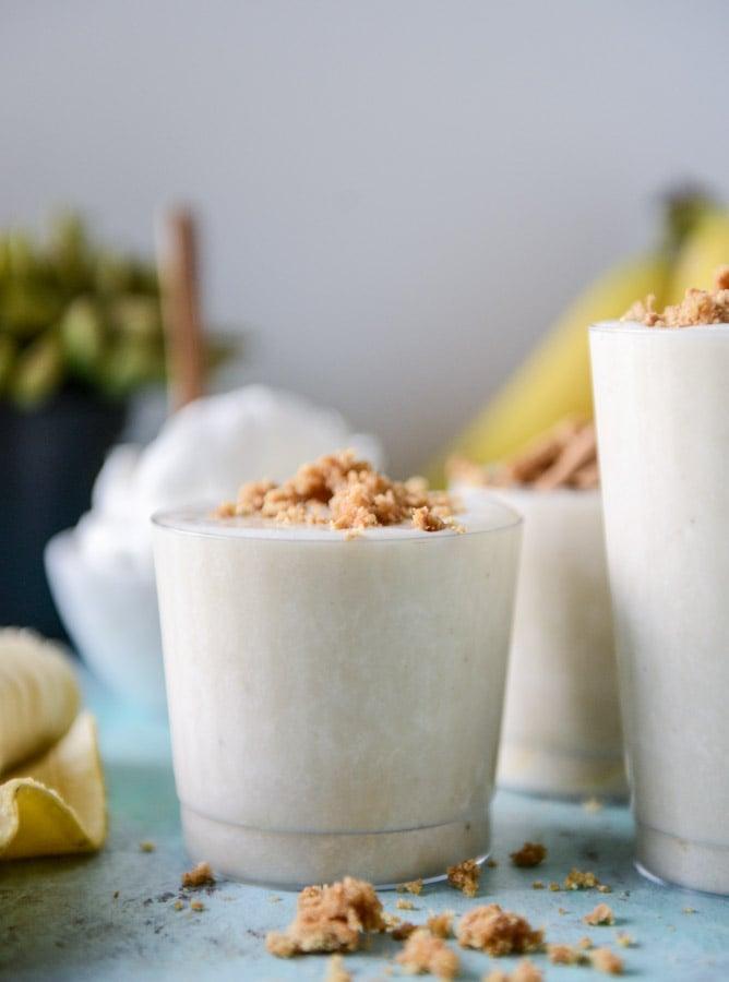 frozen vegan banana creams I howsweeteats.com