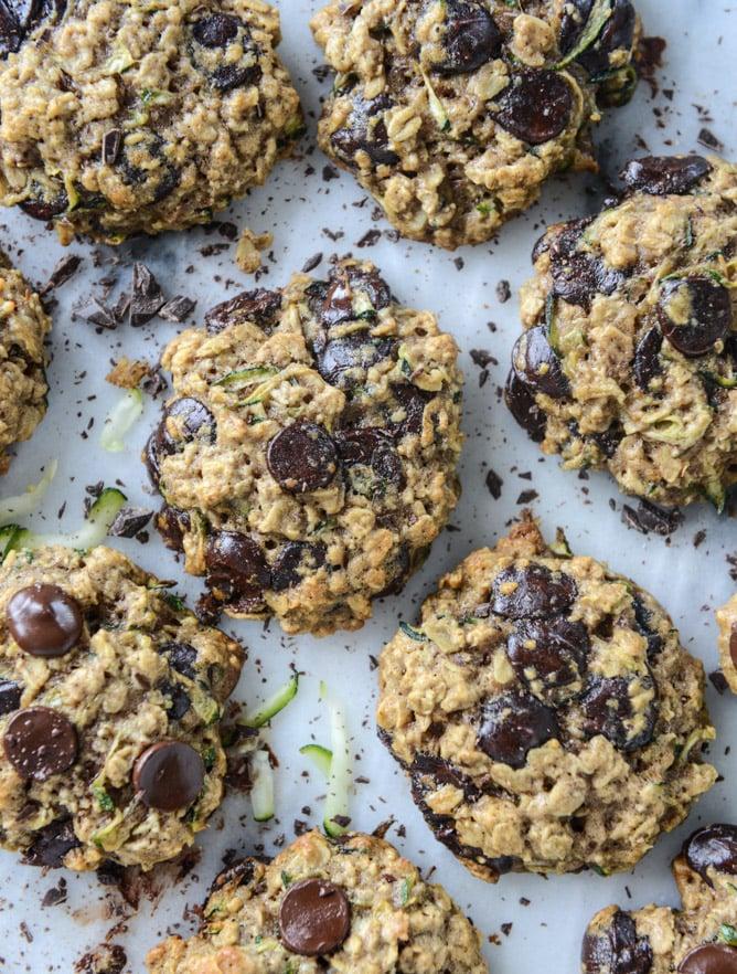Chewy Oatmeal Zucchini Cookies How Sweet Eats