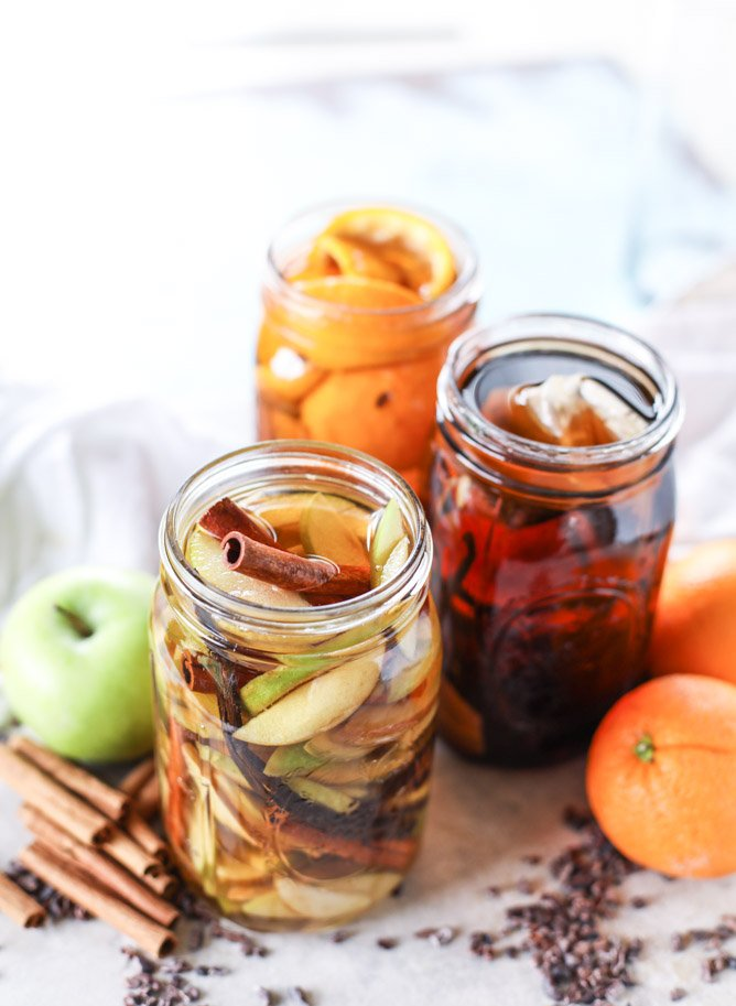 apple pie, chocolate orange and vanilla chai infused bourbon. make it for the holidays! it's the perfect homemade gift. I howsweeteats.com