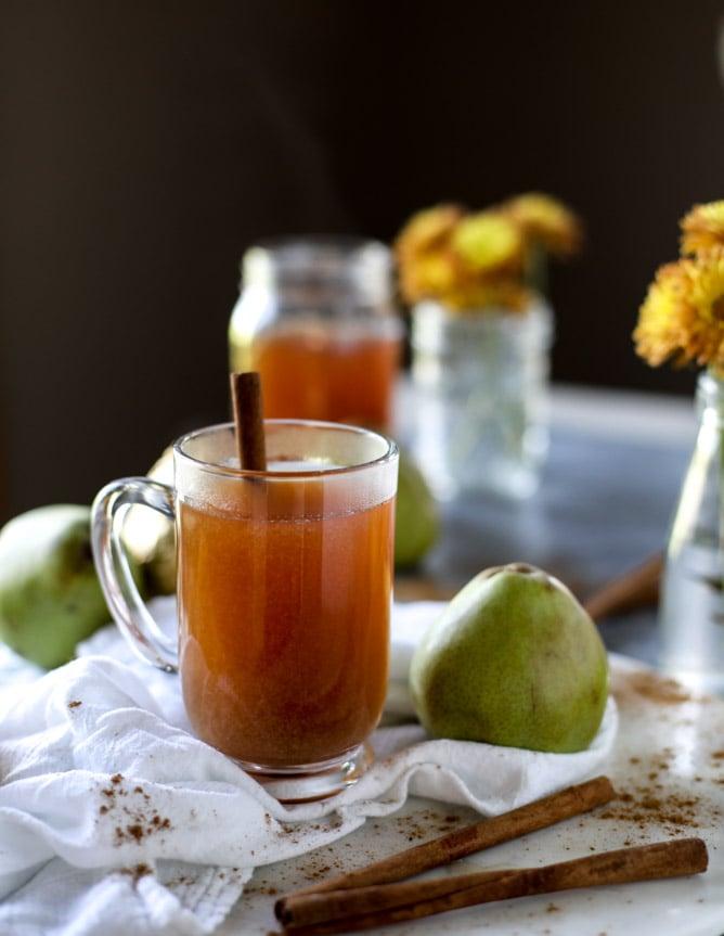 homemade pear cider I howsweeteats.com