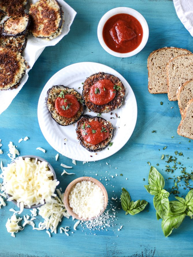 eggplant parmesan grilled cheese I howsweeteats.com