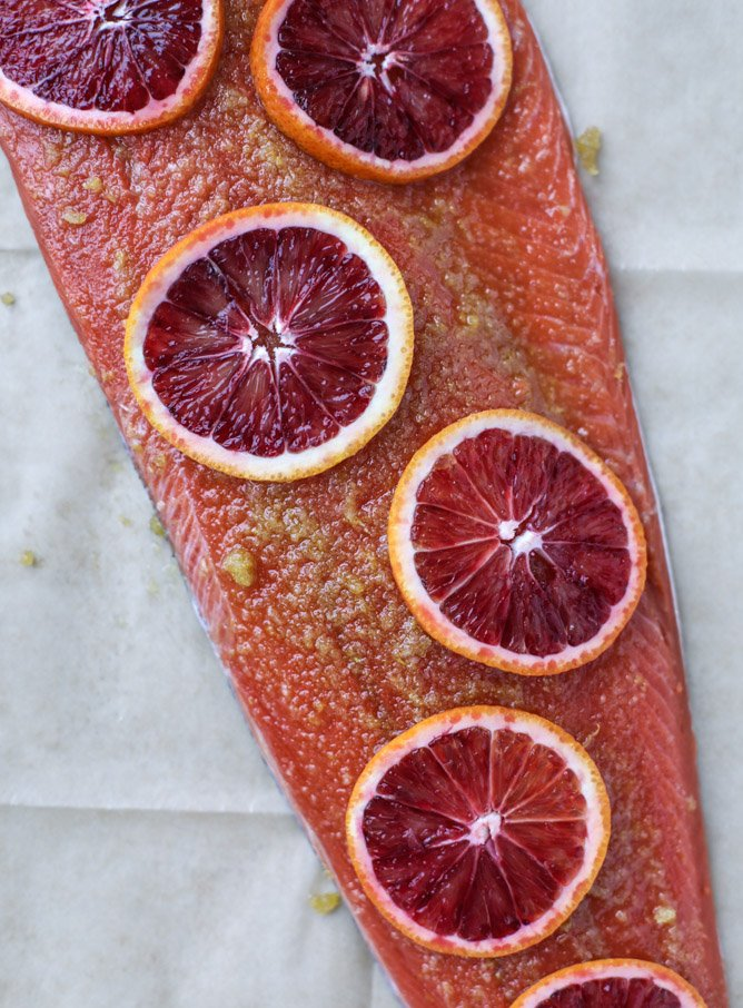 winter citrus butter salmon I howsweeteats.com