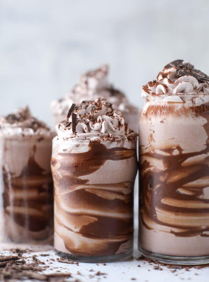 chocolate lovers coconut milkshakes I howsweeteats.com