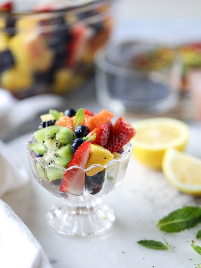 poppy seed fruit salad I howsweeteats.com