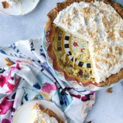 coconut custard pie I howsweeteats.com-8