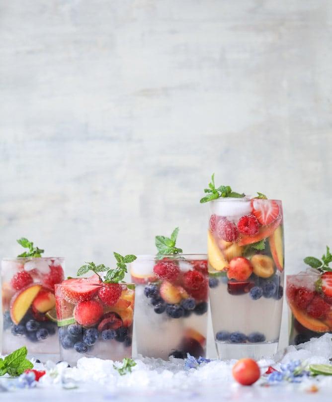 rainbow coconut water spritzers I howsweeteats.com