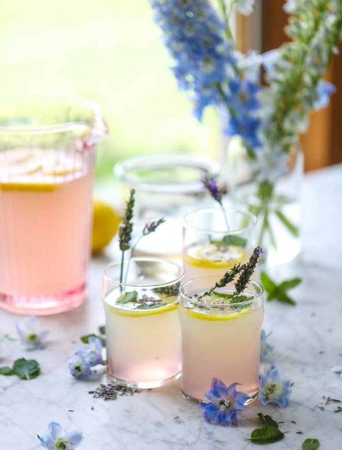 lavender mint lemonade recipe I howsweeteats.com