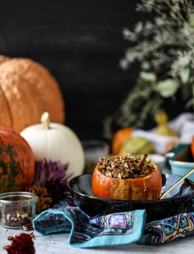 brûléed pumpkin pie oatmeal I howsweeteats.com #pumpkin #oatmeal #breakfast